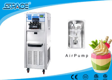 Floor Standing Ice Cream Machine With Compressor , Restaurant Ice Cream Maker