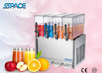 4 X12L Commercial Juice Dispenser Machine , Refrigerated Beverage Dispenser
