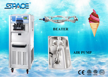 Staninless Steel Full Automatic Ice Cream Maker Machine Soft Serve Gravity Feed