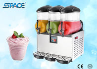 Table Top Commercial Frozen Drink Slush Machine 3 Bowl Stainless Steel Material