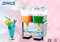 Restaurant Juice Machine Double Dispenser , Cold Fruit Beverage Dispenser Machine