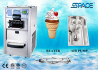 China 3 Flavors Table Top Commercial Ice Cream Machine With Air Pump Feed Feed factory