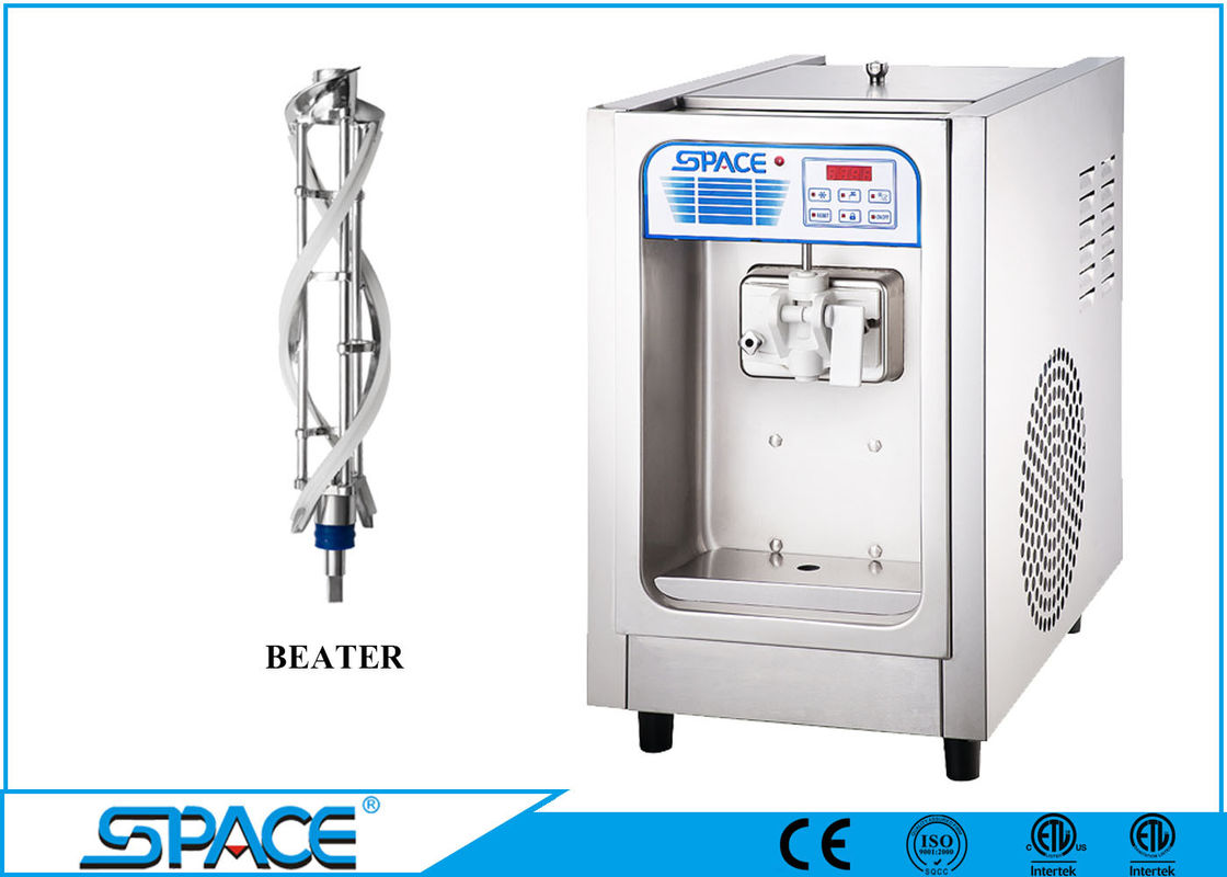 Single Flavor Table Top Ice Cream Machine , Commercial Ice Cream Making Machine