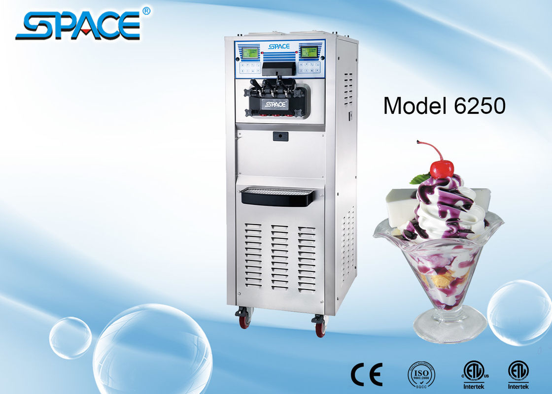 3 Compressors Commercial Soft Serve Frozen Yogurt Machine Two Control Systems