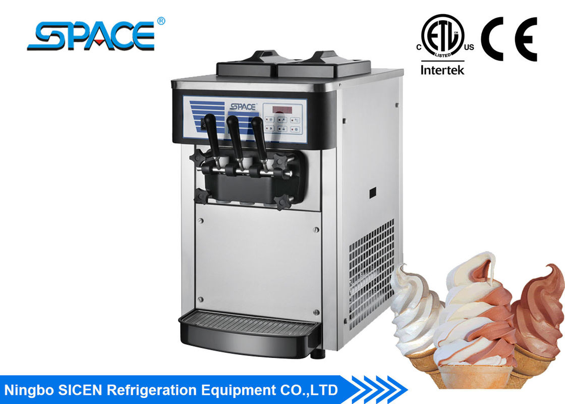 Portable Frozen Yogurt Machine , Twin Twist Flavor Frozen Yogurt Making Machine