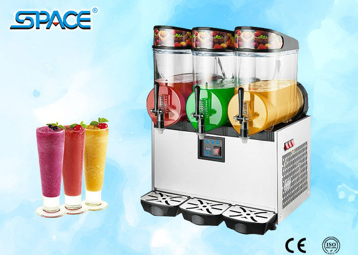 Commercial Grade Slush Machine , Frozen Drink Maker Machine 3x12L Output