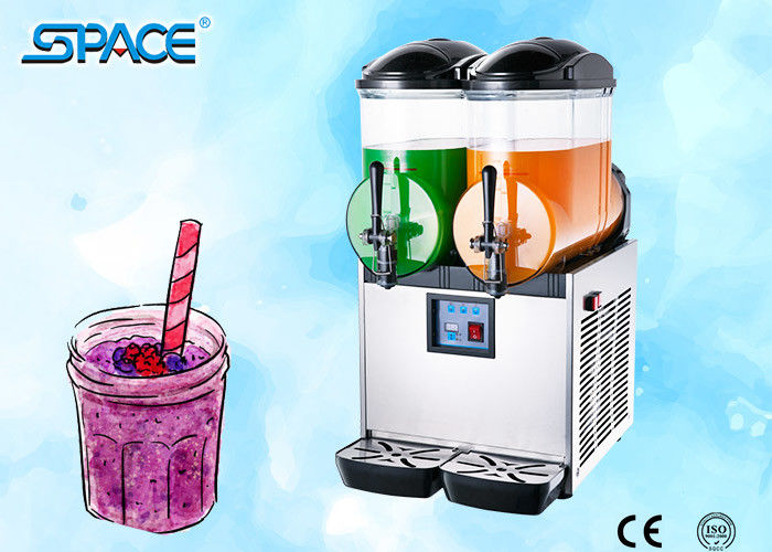Double Bowl Frozen Drink Slush Machine / Frozen Juice Machine CE Approved